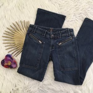 7 For All Mankind Bootcut Zipper Pocket Jeans